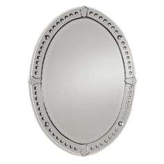 Hayneedle - Graziano Venetian Oval Mirror - 24.5W x 33.5H in.  POWDER MIRROR OPT.