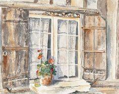 OLearys Window - 15x22 - watercolor