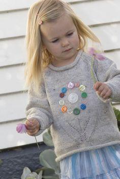 Girls Vintage Flower Sweater Little Cupcakes by par HoneyCakes