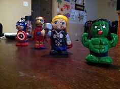 I make these by hand and am selling them. Any character. Have a looksie. And pleeeease share! Loki Thor, Clay Creations, Hulk, Captain America, Iron Man, Avengers, Marvel, Unique Jewelry, Handmade Gifts