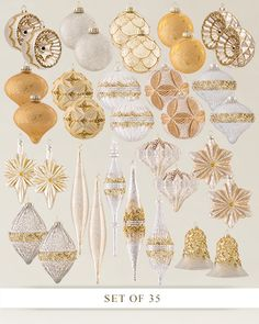 Our 35-Piece Silver and Gold Ornament Set comes in varied shapes and sizes that add depth to your holiday décor. Win these lavish embellishments for your Christmas tree in our #12DaysOfGiveaways: https://gleam.io/fb/yseJA