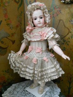 ~~~ Superb French BeBe Costume with Bonnet ~~~ from whendreamscometrue on Ruby Lane