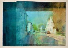 "following winter 20x28"" watercolor"