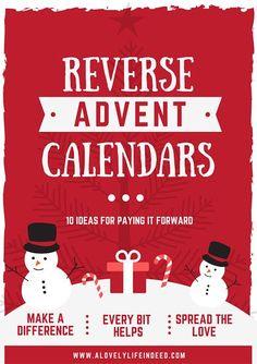 Reverse Advent Calendar: 10 Ideas