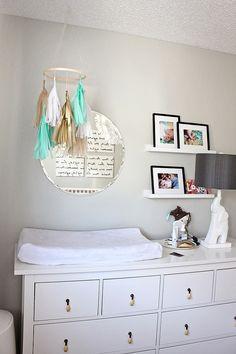 just bella: DIY Tissue Tassel Mobile