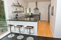 Image result for corner peninsula kitchen