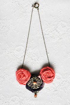 Chic Tangerine necklace.