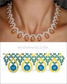collar y perlas con su esquema