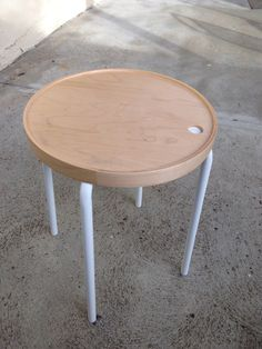 DIY ikea hack. New Multipurpose Side Table. Spray paint to make better.