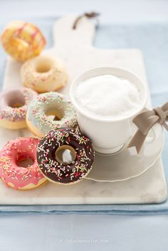 donuts-without-gluten-donuts-like-the-oven discovered by Ʈђἰʂ Iᵴɲ'ʈ ᙢᶓ Nutella, Muffins, American Cake, Doughnut Cake, Delicious Donuts, Sweets Cake, Pie Dessert, Gluten Free Cooking, Great Recipes