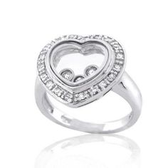 Bling Jewelry Sterling Silver Floating CZ Heart Ring Bling Jewelry, Sterling Silver Jewelry, My Hair, Heart Ring, Jewelry Design, Hair Beauty, Engagement Rings, Enagement Rings, Wedding Rings