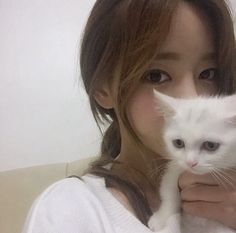 «ulzzang, cat, and girl