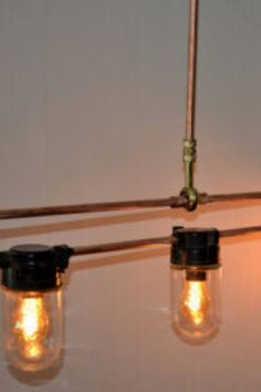 29 Awesome Industrial Lighting Fixture Plans To Accent Your Brick & Steel City Digs Vintage Industrial Lighting, Industrial Light Fixtures, Rustic Industrial, Light Project, Mason Jar Lamp, Lighting Design, Lighting Ideas, Light Decorations, Nail