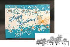 NOTTINGHAM BORDER Die Cut BY MEMORY BOX - Flower Hawiian Luau Border Diecut