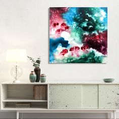 """Magnificence of the summer colors...  cherry and mint, white and turquoise  memories of long evenings by the seaside  talking about love    """"Mystic flow"""" -https://cristinadallavalentina.com/workszoom/2494751/mystic-flow"""
