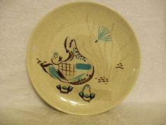 Mid-century modern atomic era serving plate.