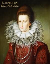 Elizabeth Stuart, Queen of Bohemia, daughter of James VI and I and Anne of Denmark, b.19 August 1596 Falkland Palace, Fife, Scotland d.13 February 1662 England. She married  Frederick V, King of Bohemia and was the mother of nine children. Her bloodline extends into Germany, France, Sardinia, the Holy Roman Empire and back into England through the Hanoverian kings.