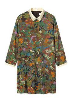 Toast tapestry print dress