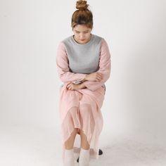 Sweatshirts with Suede Sleeves, exclusive @yeseoul