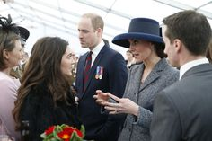 Kate Middleton Photos Photos - Prince William, Duke of Cambridge and Catherine, Duchess of Cambridge meet veterans and serving members of the British armed forces at a reception following the unveiling of the new memorial to members of the armed services who served and died in the wars in Iraq and Afghanistan at Victoria Embankment Gardens on March 9, 2017 in London, England. - Dedication & Unveiling Of The Iraq And Afghanistan Memorial