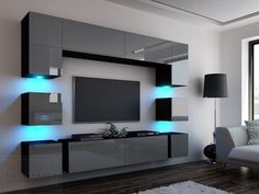 Modern living room wall unit - Best Home Decorating Ideas - How To Design A Room - homehomedecorWay furniture for living room Living Room Wall Units, Living Room Tv Unit Designs, Ceiling Design Living Room, Tv Wall Design, Home Room Design, Living Room Decor, Living Rooms, Modern Tv Room, Modern Tv Wall Units