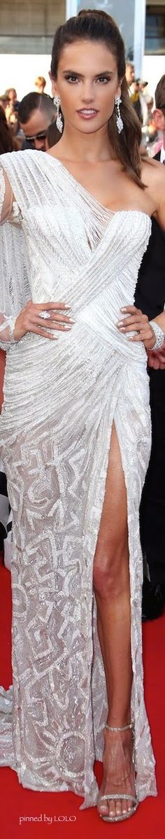 Alessandra Ambrosio in Atelier Versace...2014 Cannes Film Festival | The House of Beccaria#