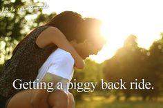 getting a piggy back ride