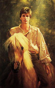 Storybook Farm boy. Artwork by Robert Schoeller