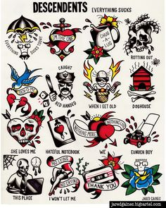 Descendents tattoo flash prints are back in stock! Big thanks to everyone who already picked one up!