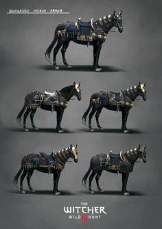 The Fantastic Art Of The Witcher 3 Jedi Armor, Batman Armor, Knight Armor, Medieval Horse, Medieval Fantasy, Armor Concept, Concept Art, Armor Tattoo, Horse Armor