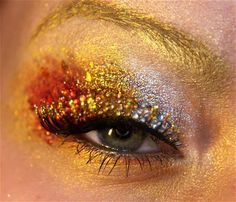 White Crown Phoenix Eyes - gold in your eyebrows- total experiment, let me know if it's ridiculous haha - Brittany