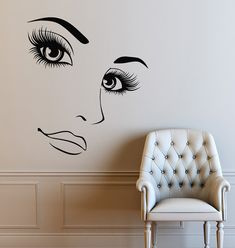 Wall Vinyl Decals Hairdressing Beauty Girl Sticker Woman Long