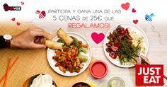Llévate una cena de 25 euros si eres una de las cuatro personas que más difunde, comunica y hace participar a tus amigos en el concurso