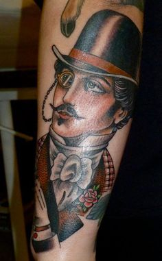 gentleman Tattoo done byTodd Noble.