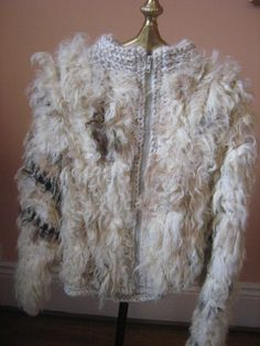 Vintage Afghan Fur and Leather Jacket Shaggy Hand Woven Hippie 1960's Warm. 59.00, via Etsy.