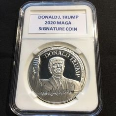 HEADS YOU WIN Donald J Trump 2020 Keep America Great Gold Coin TAILS YOU WIN