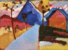 The Athenaeum - Kochel - Straight Road (Wassily Kandinsky - )