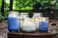 Make Your Own Citronella Candles . I've made candles before (it's really quite simple), so adding citronella makes so much sense! Citronella Candles, Diy Candles, Scented Candles, Citronella Oil, Outdoor Candles, Custom Candles, Homemade Candles, Candels, Diy Mosquito Repellent