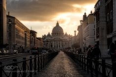Sunset in Rome by ElenaPardini1. @go4fotos