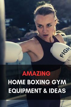 Here are some great ideas for setting up your very own home boxing gym along with some excellent gym/boxing equipment options for you to consider. Boxing Girl, Women Boxing, Boxing Boots, Boxing Gloves, Boxing Training, Boxing Workout, Boxing Routine, Boxing Punches, Title Boxing