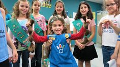 Girl Scout Daisy Honors Girl Scout Junior with Hair Donation