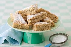 Chai semolina slice...What better way to accompany a tea than with these tea-infused goodies?
