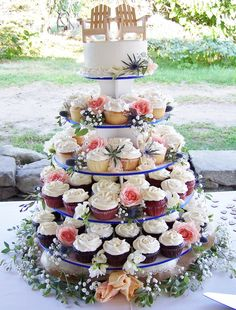 cupcake tower by Kiss Me Cakes at Truro Vineyards