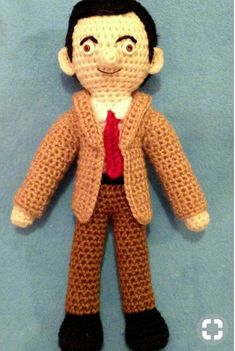 Mr Bean Birthday, Mr. Bean, Book Finder, Acrylic Wool, Kinds Of Music, Hand Crochet, Minions, Beans, Plush
