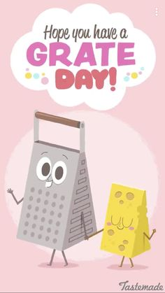 Have a grate day Funny Food Memes, Food Puns, Food Humor, Funny Quotes, Silly Jokes, Food Quotes, Punny Puns, Cute Puns, Grammar Jokes