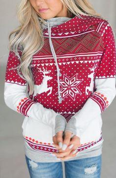 Fensajomon Womens Casual Hoodie Long Sleeve Print Hooded Christmas Pullover Sweatshirt Red S Christmas Sweaters For Women, Christmas Tops, Christmas Fashion, Christmas Hoodie, Christmas Clothes, Womens Christmas, Xmas, Cheap Christmas, Merry Christmas