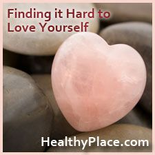 Do You Find It Hard to Love Yourself? - HealthyPlace Newsletter: mental health blogs, mental health radio, mental health awareness and much more.