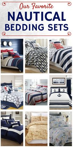 Discover our favorite nautical quilts and nautical bedding sets including comforters, duvet covers, and more with nautical themes like anchors and more. Nautical Bedding Sets, Nautical Duvet Covers, Nautical Bedroom, Beach Bedding, Nautical Home, Boy Bedding, Best Bedding Sets, Luxury Bedding Sets, Comforter Sets