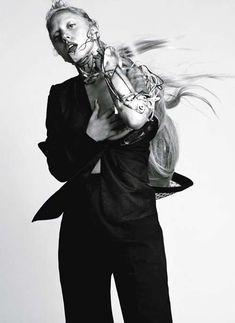 Lady Gaga by Inez van Lamsweerde and Vinoodh Matadin for L'Uomo Vogue January 2012 Moda Lady Gaga, Lady Gaga Doll, Youtubers, Lady Gaga Fashion, Lady Gaga Photos, Vogue Photo, Ladylike Style, I Love My Wife, Wilhelmina Models