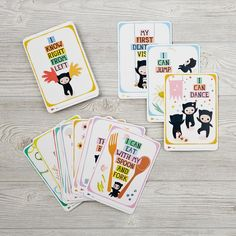 Shop Milestone Toddler Cards.  Your child's early years are filled with memorable moments.  Learning to jump, dance, throw and catch a ball, ride a bike, count to ten, climb the stairs, are just a few of many toddler highlights.